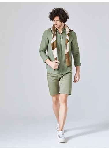 Xint Uzun Kollu Gömlek Yeşil